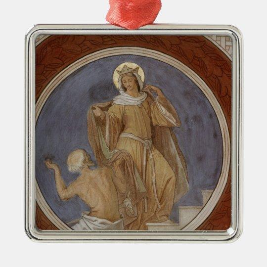 St. Elisabeth giving her Coat to a Beggar Metal Ornament