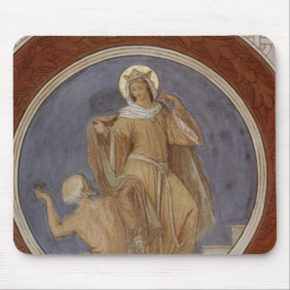 St. Elisabeth giving her Coat to a Beggar Mouse Pad