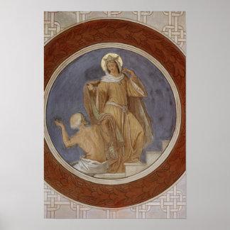 St. Elisabeth giving her Coat to a Beggar Poster