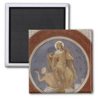 St. Elisabeth que da su capa a un mendigo Imanes Para Frigoríficos