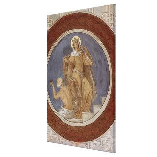 St. Elisabeth que da su capa a un mendigo Impresion De Lienzo