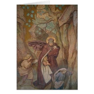 St. Elisabeth's Departure from Wartburg Castle Card