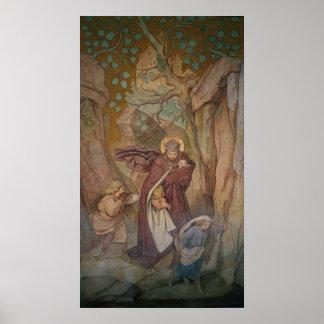 St. Elisabeth's Departure from Wartburg Castle Poster