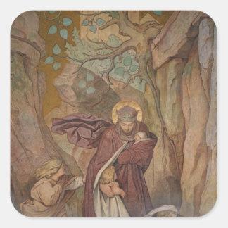 St. Elisabeth's Departure from Wartburg Castle Square Sticker