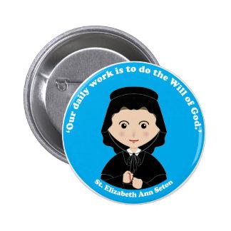 St. Elizabeth Ana Seton Pin Redondo De 2 Pulgadas