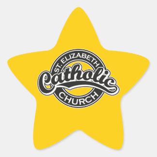 St. Elizabeth Catholic Church Black and White Star Sticker