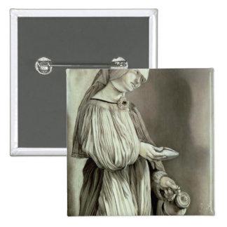 St. Elizabeth de Hungría 1509 Pin Cuadrada 5 Cm