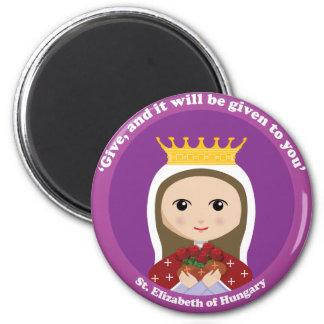 St. Elizabeth de Hungría Imán Redondo 5 Cm