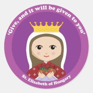St. Elizabeth de Hungría Pegatina Redonda