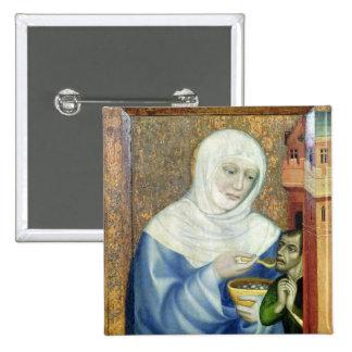 St. Elizabeth de Hungría Pin Cuadrada 5 Cm