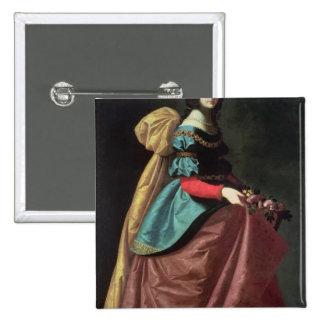 St. Elizabeth de Portugal 1640 Pin Cuadrada 5 Cm