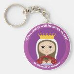 St. Elizabeth of Hungary Basic Round Button Keychain