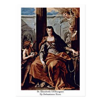 St Elizabeth Of Hungary By Sebastiano Ricci Postcard