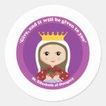 St. Elizabeth of Hungary Classic Round Sticker