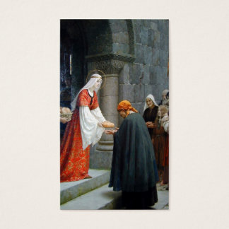 St. Elizabeth of Hungary Feeds the Poor Business Card
