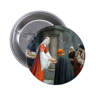 St. Elizabeth of Hungary Feeds the Poor Button