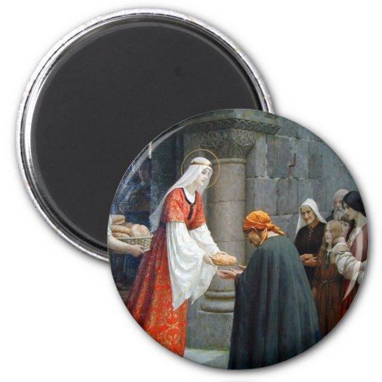St. Elizabeth of Hungary Feeds the Poor Magnet
