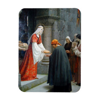 St. Elizabeth of Hungary Feeds the Poor Rectangular Photo Magnet