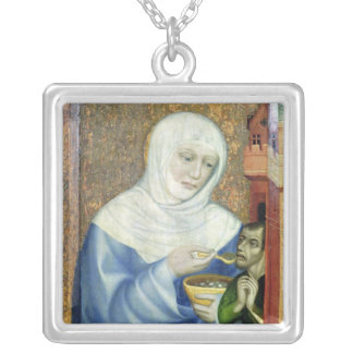 St. Elizabeth of Hungary Silver Plated Necklace