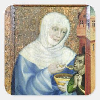 St. Elizabeth of Hungary Square Sticker