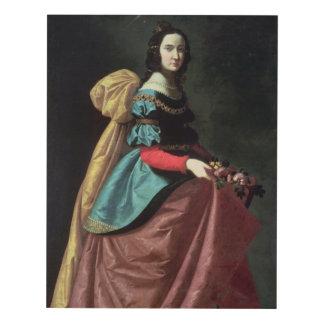 St. Elizabeth of Portugal  1640 Panel Wall Art