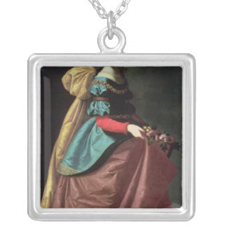 St. Elizabeth of Portugal  1640 Square Pendant Necklace
