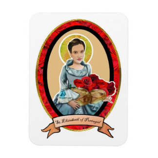 St. Elizabeth of Portugal bread and roses magnet