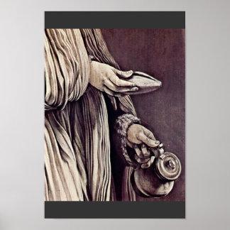 St. Elizabeth Of Thuringia Detail By Grünewald Mat Posters