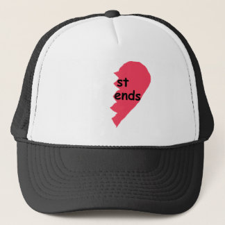 ST ENDS Best Friends half Trucker Hat