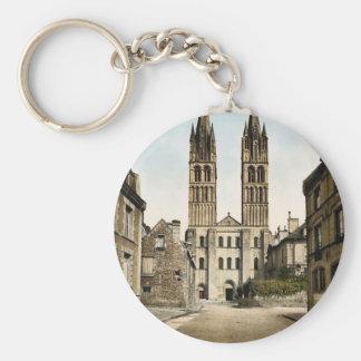 St. Etienne church, Caen, France classic Photochro Key Chains