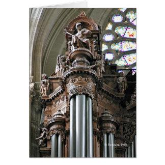 St Eustache organ greeting card