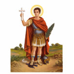 """St. Expedite Photo Sculpture<br><div class=""""desc"""">St. Expedite Photo Sculpture,  perfect for your altar to the patron st of procrastination and quick results!</div>"""