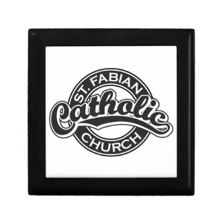 St. Fabian Catholic Church Black and White Gift Box