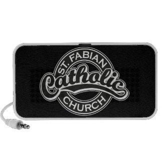 St. Fabian Catholic Church Black and White Mp3 Speakers