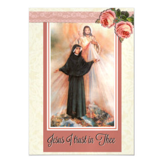 "St. Faustina 5""x7"" Thin Magnetic Card"