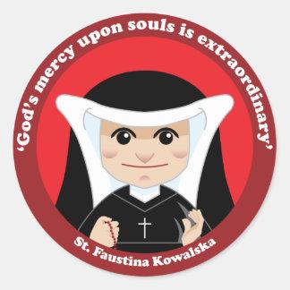 St. Faustina Kowalska Classic Round Sticker
