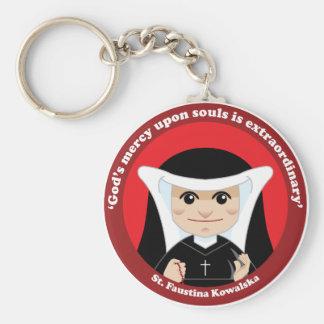 St. Faustina Kowalska Llavero Redondo Tipo Pin