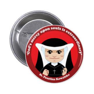 St. Faustina Kowalska Pinback Button