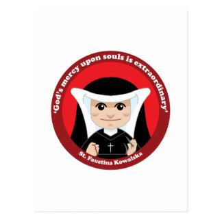 St. Faustina Kowalska Postcard