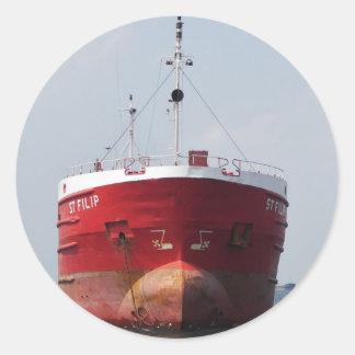 St Felipe del buque de carga Pegatina Redonda
