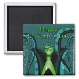St feliz Patty' día de s Imán Cuadrado