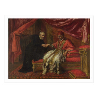 St. Filippo Neri Curing Pope Clemente VIII Postcard