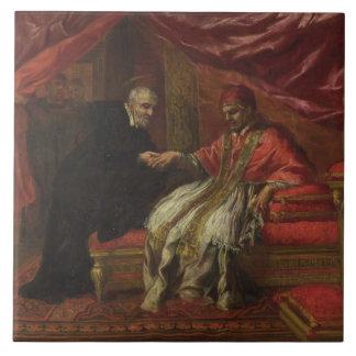 St. Filippo Neri Curing Pope Clemente VIII Tile