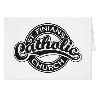 St. Finian's Catholic Church Black and White Card