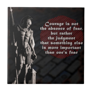 St. Florian Courage Firefighter Tile