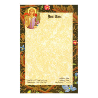 """St. Florian of Lorch (PM 03) 5.5""""x8.5"""" Stationery"""