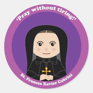 St. Frances Javier Cabrini Pegatina Redonda