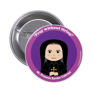 St. Frances Javier Cabrini Pin Redondo De 2 Pulgadas