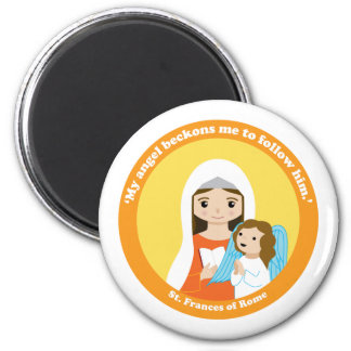 St. Frances of Rome 2 Inch Round Magnet