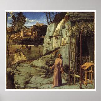 St. Francis 1480-1485 Art Poster